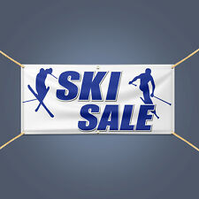 4' X 2' SKI SALE Banner, Outdoor Business Advertising Heavy Duty PVC Sign