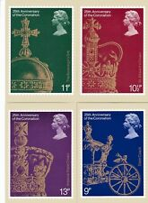 Royal Mail Stamp Postcards PHQ 29 Complete 25th Anniversary of Coronation 1978