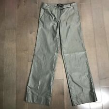 Robert Rodriguez Womens Pants Gray Metalic Wide Leg Size 6