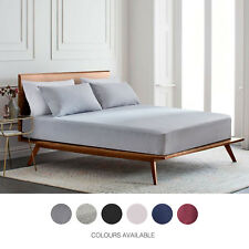 NEW Gioia Casa 100% Jersey Cotton Fitted Sheet Deep Wall - Various Colours