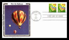 OAS-CNY 521 HOT AIR BALLOONS COLORANO SILK 1991 FDC