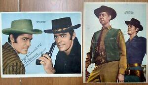 VINTAGE TWO FACES WEST CHARLES BATEMAN JAMES GRIFFITH TV POSTER LOT ARG 1960's