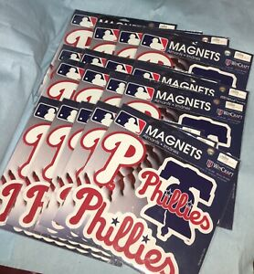 "17 - Philadelphia Phillies WinCraft 11"" X 11"" 3pk Car Magnets"