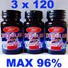 3 x 120 TRIBULUS TERRESTRIS Max 96% Saponins-Testosteron booster-Muscle Mass