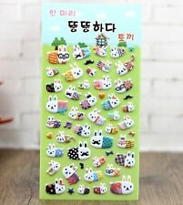 FD4506 Korea Design Beard Rabbit Bubble Sticker for Diary Reward Moblie Phone✿
