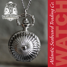 Acorn Shaped Sphere Locket Pocket Watch with Chain Necklace