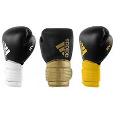 Adidas Hybrid 300 Leather Boxing Gloves 12oz 16oz White Gold Yellow