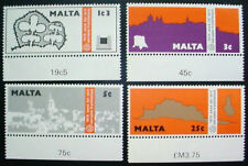 1975 MALTA: QE II: EUROPEAN ARCHITECTURAL HERITAGE YEAR : SET OF 4 MNH STAMPS