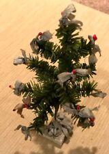 "Rare Antique Bohemian Czech Feather Christmas Tree 8"" High Candy Advertisement"