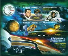 Space Sputnik Kennedy JFK Pesquet ESA Mars Satellites Gabon MNH stamp sheet