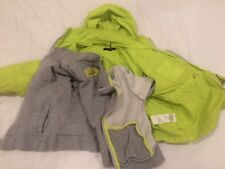 DKNY KIDS 2-in-1 JUMPER JACKET HOODIE WINDBREAKER BOY GIRL WATER RESISTANT Sz 4