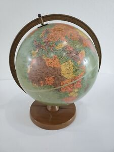 "Vintage Replogle World Globe 1940s 12"" on stand"