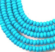 4x2mm Blue Turquoise Rondelle Beads 16""