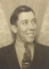 Vintage Photograph Photo Booth Handsome Man Poses Gay Interest 1950s A2
