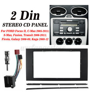 Double Din Facia Stereo Fitting Surround Wiring Adaptor Panel For Ford Focus AU