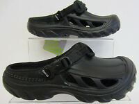 Crocs crostrail Niños/hombre sandalias NEGRAS/ZUECOS UK3 & UK4 (G1)