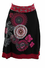 Desigual rock talla M algodón stretchrock verano rock recreativas rock skirt Jupe