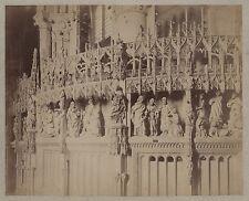 Cathédrale Architecture chrétienne Art gothique France Vintage albumine ca 1880