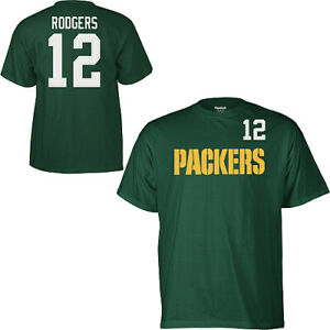 Green Bay Packers Aaron Rodgers Reebok Player Pride Name & Number T-Shirt