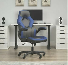 Essentials Collection Racing Style Bonded Leather Gaming Chair in BLUE