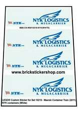Precut Custom Stickers voor Lego Set 10219 - Maersk Train - NYK Containers