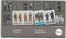 CANADA CANADIAN FORCES 1985 SOUVENIR 4-STAMP SET - MINT, IN SEALED PACKET