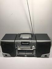 Read Description Aiwa Boombox Ca-Dw530U Cd player, dual cassettes Radio