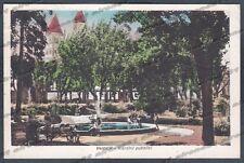 VERCELLI CITTÀ 126 GIARDINI - FONTANA Cartolina viaggiata 1948