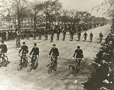 Vintage Bicycles Chicago IL Bicycle Club in Uniform Bikers on Grand Blvd. GREAT