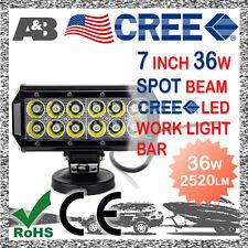 """7"""" 36W 12 CREE LED Work Light Spotlight Lamp Light Bar 9-32V (9V 12V 24V 32V)"""