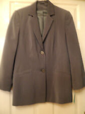 NEW WITH TAGS LADIES GREY SUIT JACKET SIZE 10 FULLY LINED MACHINE WASHABLE
