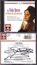 Rafael FRÜHBECK DE BURGOS Signed FALLA: LA VIDA BREVE Victoria de Los Angeles CD