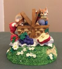 San Francisco Music Box Mouse Capers Picnic Basket Mice 1991 Somewhere Out There