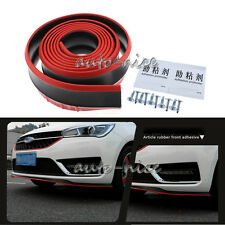 "98""/2.5M Red / Black Front Bumper Lip Splitter Spoiler Body Chin Trim Side Skirt"