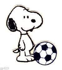 "1.5"" BABY SNOOPY SPORTS SOCCER BALL MINI  CHARACTER  FABRIC APPLIQUE IRON ON"