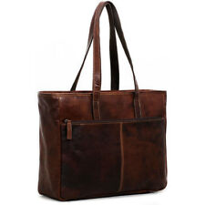 Jack Georges Voyager Leather Business Tote Bag in Brown