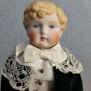 Antique reproduction German Bisque Shoulder Head Parian Boy Doll Artist M.Brouse