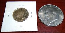 2007-S Gem Proof Wyoming State Quarter & 1972 BU Eisenhower Dollar