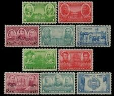 US, #785-94 Army-Navy War Heroes 1936-37 10 stamps, MNH