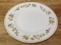 Mirabelle Wedgwood 1 Salad Dessert Plate Bone China Floral Green Rim R4537 White