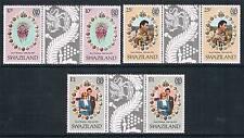 Swaziland 1981 Royal Wedding GUTTER PAIRS SG 376/8 MNH