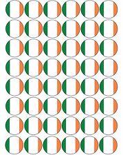 48 x Ireland / Irish Flag - Pre Cut Cupcake Toppers Premium Quality Icing Sheet