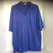 Jerzees polo XL Royal Blue Short Sleeve Shirt Cotton Blend, Solid
