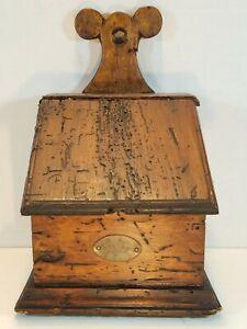 Antique Primitive Salt Box Spice Cabinet