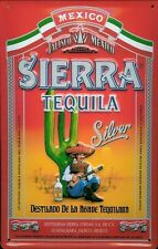 Mexican Tequila Silver Shot Drink Pub Bar Party Medium 3D Metal Embossed Sign