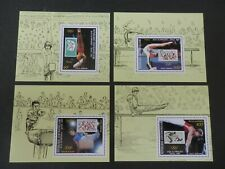 Central African Republic 1988 - Olympics, Michel 1331-34 in minisheets, MNH
