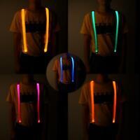 LED Luminous Strap Blinkender Brustgurt Luminous Suspender Elastic Pant Strap