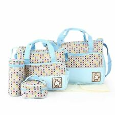 Babyhugs 5PCS Baby Nappy Changing Maternity Hospital Bag Set - BABY BLUE & DOTS