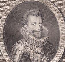 Portrait XVIIIe Henri de Lorraine Balafré Prince de Joinville Baron de Lambesc