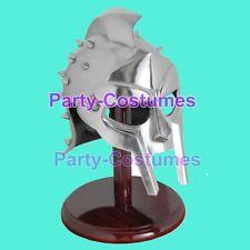 Roman Gladiator Maximus Helmet Larp Armour Role-Play Helmets W/ Liner Chin Strap